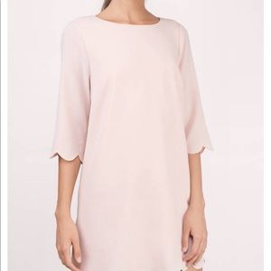 Tobi | Blush Scalloped Dress